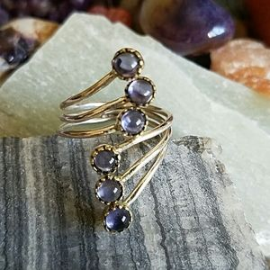 Iolite Stone RingSterling Silver NEW